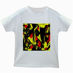 Easy Colors Abstract Pattern Kids White T-Shirts