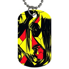 Easy Colors Abstract Pattern Dog Tag (One Side)