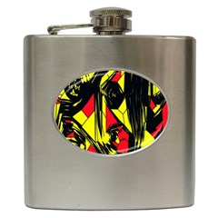 Easy Colors Abstract Pattern Hip Flask (6 Oz)