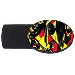 Easy Colors Abstract Pattern USB Flash Drive Oval (1 GB)
