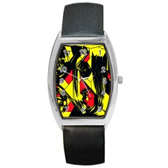 Easy Colors Abstract Pattern Barrel Style Metal Watch
