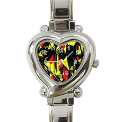 Easy Colors Abstract Pattern Heart Italian Charm Watch