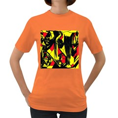 Easy Colors Abstract Pattern Women s Dark T Shirt