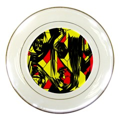 Easy Colors Abstract Pattern Porcelain Plates