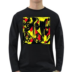 Easy Colors Abstract Pattern Long Sleeve Dark T-Shirts
