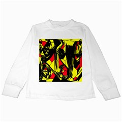 Easy Colors Abstract Pattern Kids Long Sleeve T-Shirts
