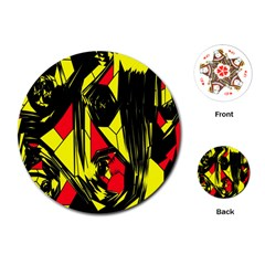 Easy Colors Abstract Pattern Playing Cards (Round)