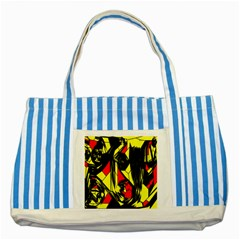 Easy Colors Abstract Pattern Striped Blue Tote Bag