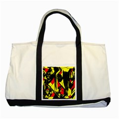 Easy Colors Abstract Pattern Two Tone Tote Bag