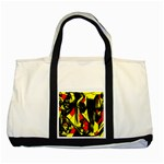 Easy Colors Abstract Pattern Two Tone Tote Bag Front