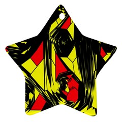 Easy Colors Abstract Pattern Star Ornament (Two Sides)