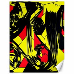 Easy Colors Abstract Pattern Canvas 18  x 24