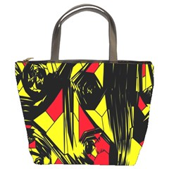 Easy Colors Abstract Pattern Bucket Bags