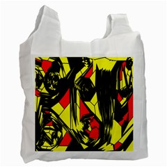 Easy Colors Abstract Pattern Recycle Bag (one Side)