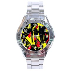 Easy Colors Abstract Pattern Stainless Steel Analogue Watch