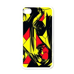 Easy Colors Abstract Pattern Apple Iphone 4 Case (white)
