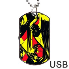 Easy Colors Abstract Pattern Dog Tag USB Flash (Two Sides)
