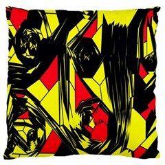 Easy Colors Abstract Pattern Large Cushion Case (Two Sides)