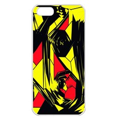 Easy Colors Abstract Pattern Apple Iphone 5 Seamless Case (white)