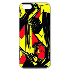 Easy Colors Abstract Pattern Apple Seamless Iphone 5 Case (clear)