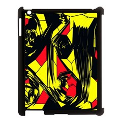 Easy Colors Abstract Pattern Apple iPad 3/4 Case (Black)