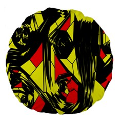 Easy Colors Abstract Pattern Large 18  Premium Round Cushions