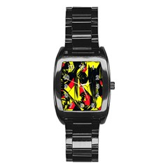 Easy Colors Abstract Pattern Stainless Steel Barrel Watch