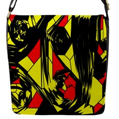 Easy Colors Abstract Pattern Flap Messenger Bag (S)