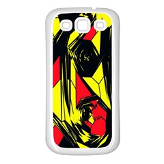 Easy Colors Abstract Pattern Samsung Galaxy S3 Back Case (White)