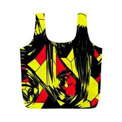 Easy Colors Abstract Pattern Full Print Recycle Bags (m)
