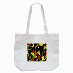 Easy Colors Abstract Pattern Tote Bag (White)