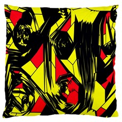 Easy Colors Abstract Pattern Large Flano Cushion Case (One Side)
