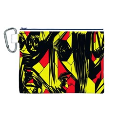 Easy Colors Abstract Pattern Canvas Cosmetic Bag (l)