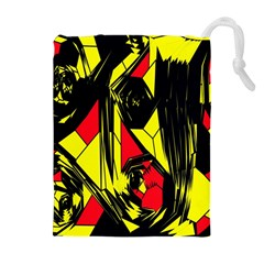 Easy Colors Abstract Pattern Drawstring Pouches (Extra Large)