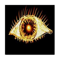 Flame Eye Burning Hot Eye Illustration Tile Coasters