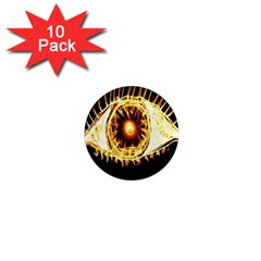 Flame Eye Burning Hot Eye Illustration 1  Mini Magnet (10 Pack)