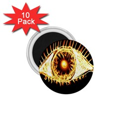 Flame Eye Burning Hot Eye Illustration 1.75  Magnets (10 pack)