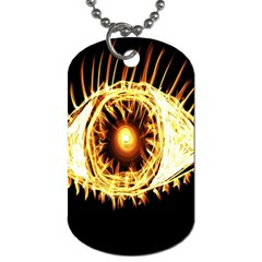 Flame Eye Burning Hot Eye Illustration Dog Tag (Two Sides)