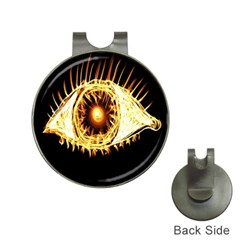 Flame Eye Burning Hot Eye Illustration Hat Clips With Golf Markers
