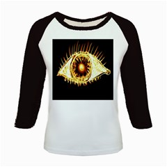 Flame Eye Burning Hot Eye Illustration Kids Baseball Jerseys