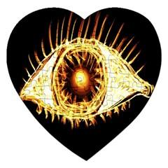 Flame Eye Burning Hot Eye Illustration Jigsaw Puzzle (Heart)