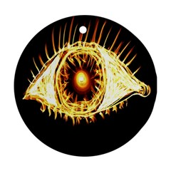 Flame Eye Burning Hot Eye Illustration Round Ornament (two Sides)