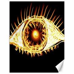 Flame Eye Burning Hot Eye Illustration Canvas 12  x 16