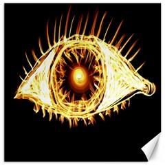 Flame Eye Burning Hot Eye Illustration Canvas 16  x 16