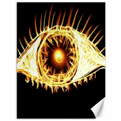 Flame Eye Burning Hot Eye Illustration Canvas 36  X 48