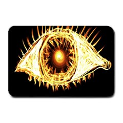 Flame Eye Burning Hot Eye Illustration Plate Mats