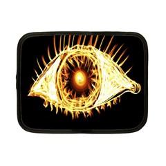 Flame Eye Burning Hot Eye Illustration Netbook Case (Small)