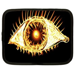 Flame Eye Burning Hot Eye Illustration Netbook Case (Large)