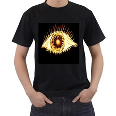 Flame Eye Burning Hot Eye Illustration Men s T Shirt (black)