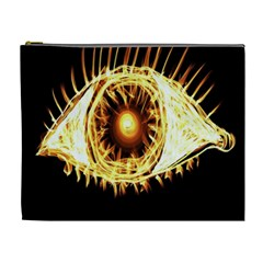 Flame Eye Burning Hot Eye Illustration Cosmetic Bag (xl)